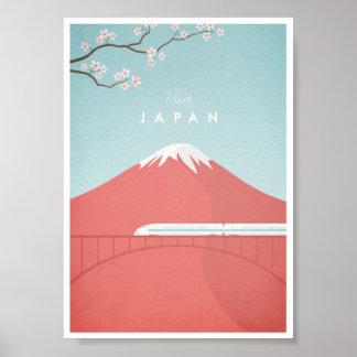 Póster Poster del viaje del vintage de Japón