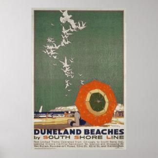 Póster Poster del viaje del vintage de las playas de