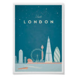 Póster Poster del viaje del vintage de Londres