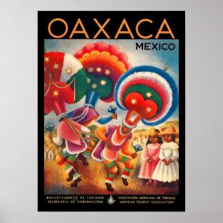 Póster Poster del viaje del vintage de Oaxaca México