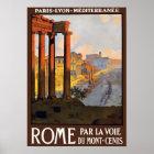 Póster Poster del viaje del vintage de Roma