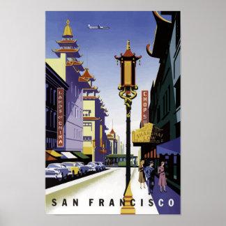 Póster Poster del viaje del vintage de San Francisco