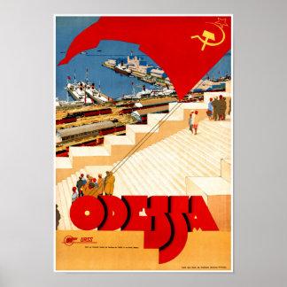 Póster Poster del viaje del vintage de Unión Soviética