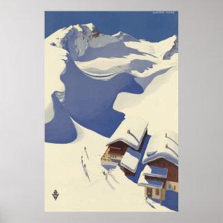 Póster Poster del viaje del vintage de Wunshhelm Austria