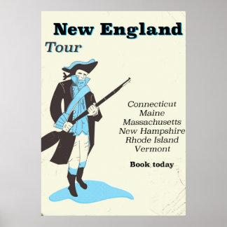 Póster Poster del viaje del vintage del viaje de Nueva