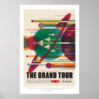 Póster Poster del viaje magnífico de la Sistema Solar