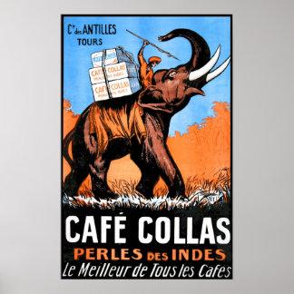 Póster Poster del vintage de Collas del café