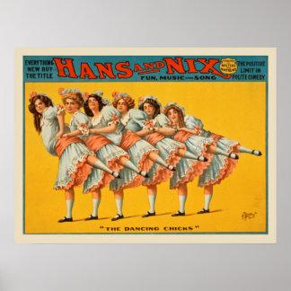 Póster Poster del vintage de Hans y de la comedia del Nix