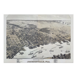 Póster Poster del vintage de Jacksonville la Florida
