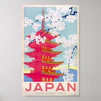 Póster poster del vintage de Japón