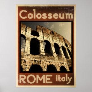 Póster poster del vintage de Roma Italia