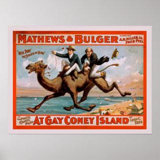 Póster Poster del vintage del juego de la comedia musical