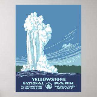 Póster Poster del vintage del parque nacional de
