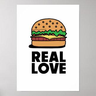 Póster Poster divertido de los amantes de los alimentos