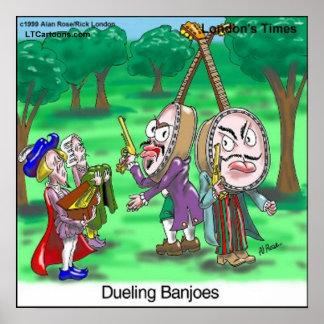 Póster Poster divertido del dibujo animado de los banjos