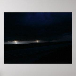 Póster Poster doble del rayo de la noche