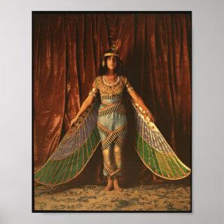 Póster Poster egipcio del traje de la danza del vintage