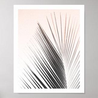 Póster Poster el | 8x10 rosado de la hoja de la palmera