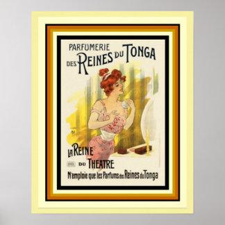 Póster Poster francés 16 x 20 del anuncio de Reines Du