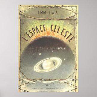Póster Poster francés del espacio del vintage