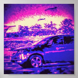 Póster Poster fresco del coche
