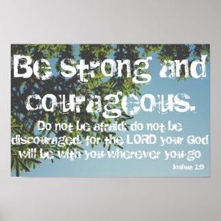 Póster Poster fuerte y valeroso del árbol del 1:9 de