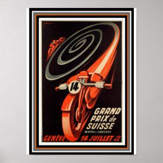 Póster Poster futurista retro 12 x 16 de Grand Prix