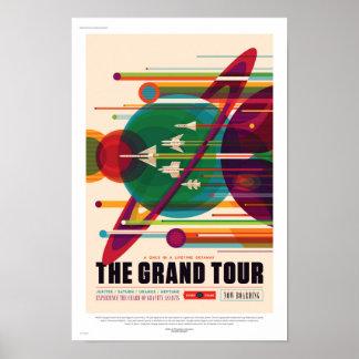 Póster Poster futuro del viaje de la NASA Sci Fi - el