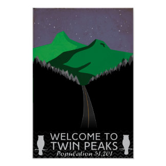 Póster Poster gemelo del viaje de los picos
