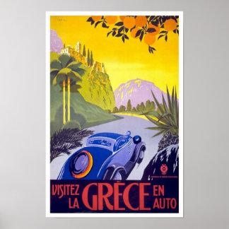 Póster Poster Grecia del viaje del vintage