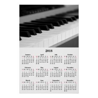 Póster Poster hermoso del piano de la música del