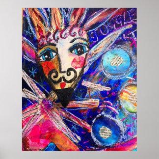 Póster Poster hermoso 'Juggler