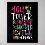 Póster Poster inspirado de motivación de la tipografía de