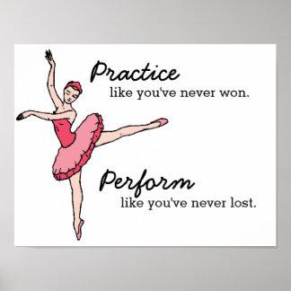 Póster Poster inspirado del bailarín de ballet