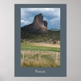 Póster Poster inspirado del paisaje de Colorado del foco