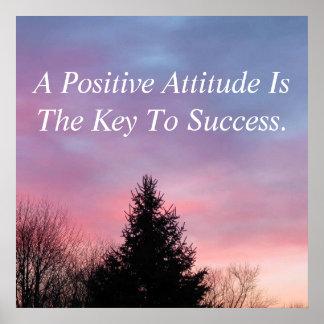 Póster Poster inspirado del poster de la actitud positiva