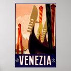 """Póster Poster italiano del viaje del vintage de """"Venecia"""""""
