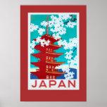 Póster Poster Japón del viaje del vintage