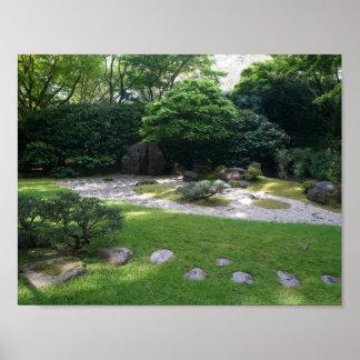 Póster Poster japonés del jardín #2 del zen del jardín de