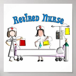 Póster Poster jubilado de la enfermera (personalizable)