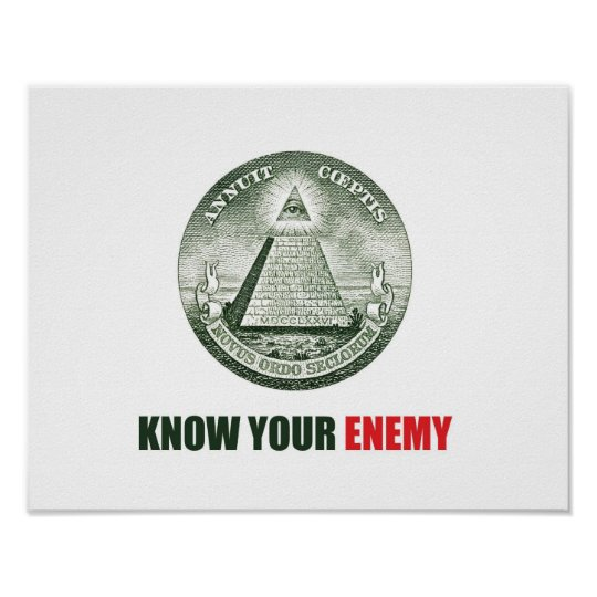 Póster poster know your enemy illuminati
