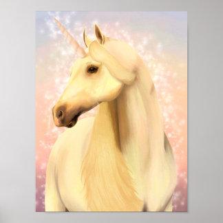 Póster Poster mágico del unicornio
