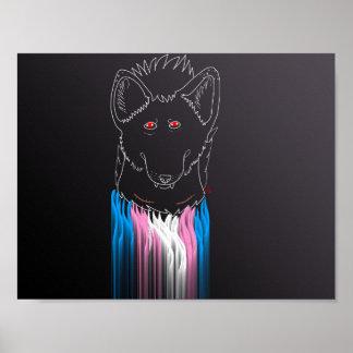 Póster Poster masculino del hyena del transporte