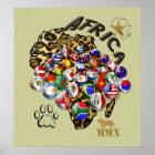 Póster Poster masivo del fútbol del fútbol del mundial de