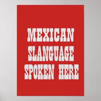 Póster Poster mexicano del slanguage