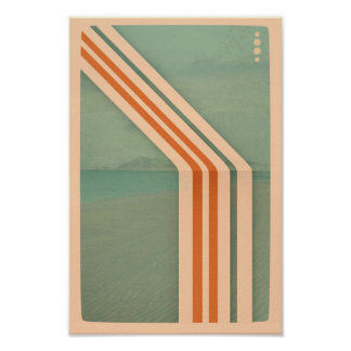 Póster Poster minimalista retro