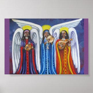Póster Poster minúsculo del trío de la música del ángel