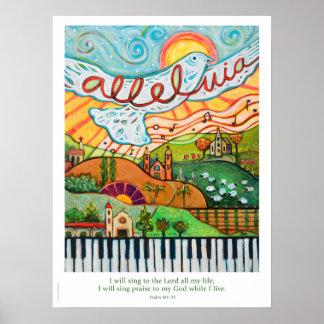 Póster Poster musical de la aleluya para la sala de clase