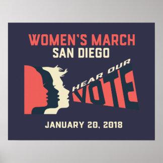 Póster Poster oficial de marzo San Diego marzo de las