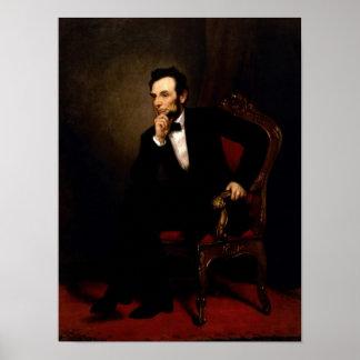 Póster Poster oficial del retrato de Abraham Lincoln